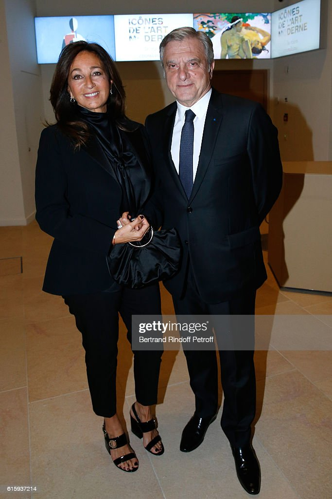 Dior Sidney Toledano and his wife Katia attend the 'Icones de l'Art Moderne, La Collection Chtchoukine' : Cocktail at Fondation Louis Vuitton on October 20, 2016 in Paris, France.