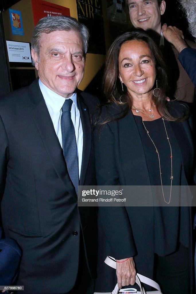 CEO Dior Sidney Toledano and his wife Katia attend the 'L'origine de la violence' - Paris Premiere. Held at Cinema 'Le Balzac' on May 03, 2016 in Paris, .