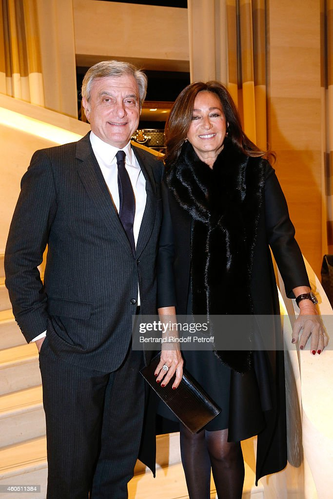 CEO Dior Sidney Toledano and his wife Katia attend the Louis Vuitton Montaigne Store Re-Opening party at Louis Vuitton Avenue Montaigne Store on December 15, 2014 in Paris, France.