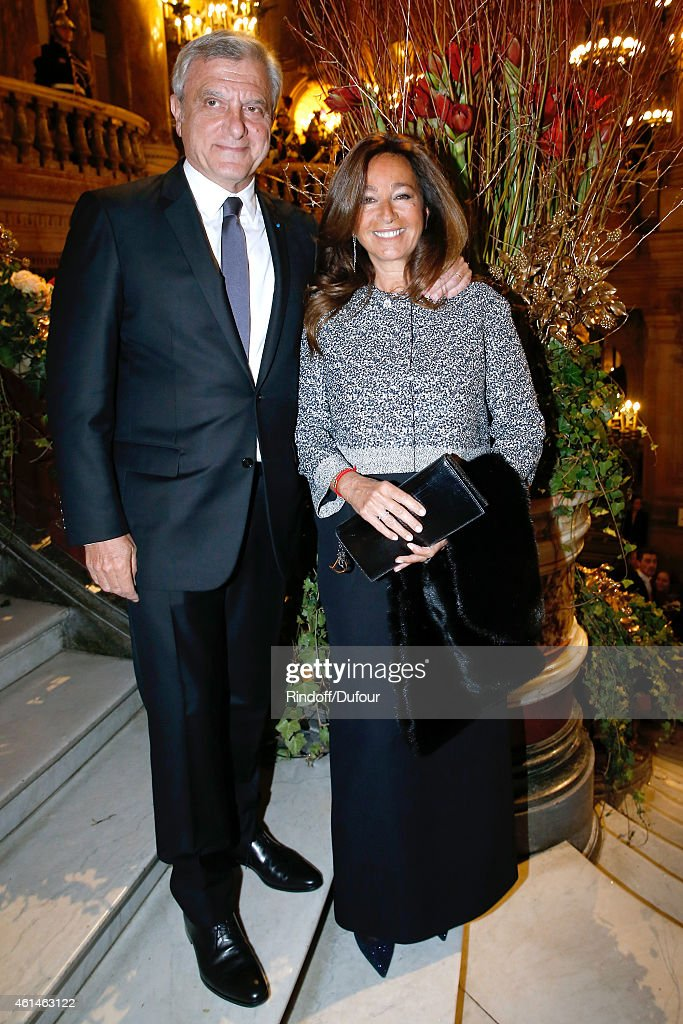 Dior Sidney Toledano and his wife Katia attend Weizmann Institute celebrates its 40 Anniversary at Opera Garnier in Paris on January 12, 2015 in Paris, France.