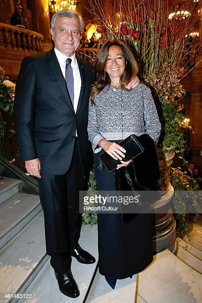 Dior Sidney Toledano and his wife Katia attend Weizmann Institute celebrates its 40 Anniversary at Opera Garnier in Paris on January 12 2015 in Paris...