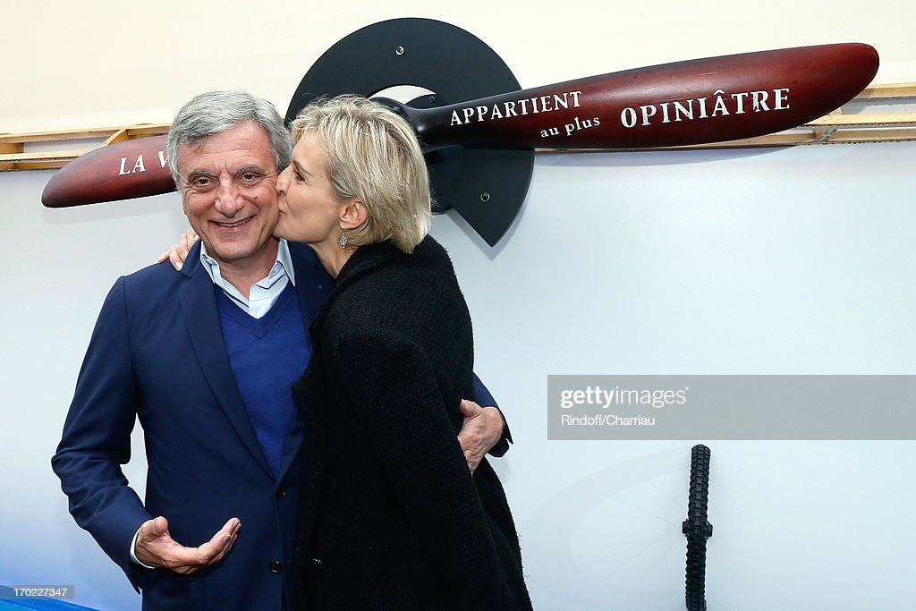 CEO Dior Sidney Toledano and Melita Toscan Du Plantier sighting at the Roland Garros Tennis French Open 2013 - Day 15 on June 9, 2013 in Paris, France.