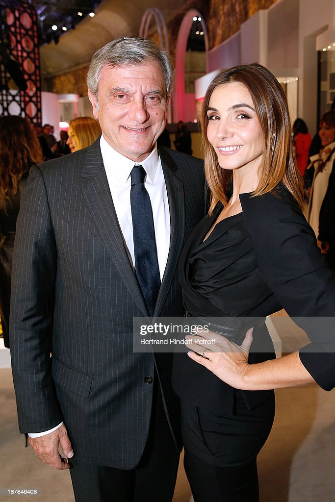 Dior Sidney Toledano and Princess of Savoy, Clotilde Courau attend the 'Esprit Dior, Miss Dior' Exhibition Opening Cocktail event on November 12, 2013 in Paris, France.
