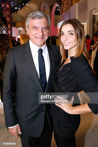 Dior Sidney Toledano and Princess of Savoy Clotilde Courau attend the 'Esprit Dior Miss Dior' Exhibition Opening Cocktail event on November 12 2013...