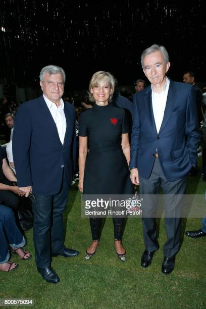 CEO Dior Sidney Toledano Helene MercierArnault and her husband Owner of LVMH Luxury Group Bernard Arnault attend the Dior Homme Menswear...