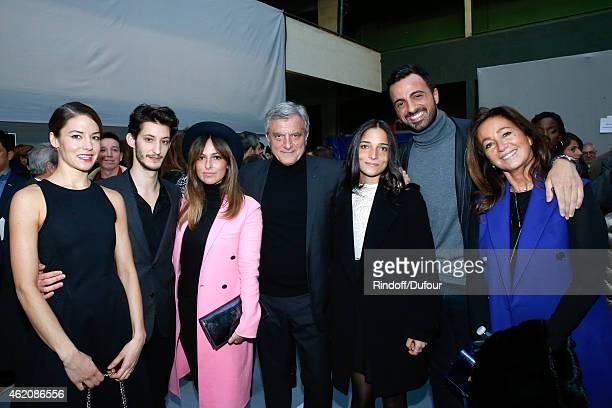 Dior Sidney Toledano his wife Katia Toledano their son Alan Toledano with his companion Joy Taieb their daughter Julia Toledano Actors Pierre Niney...