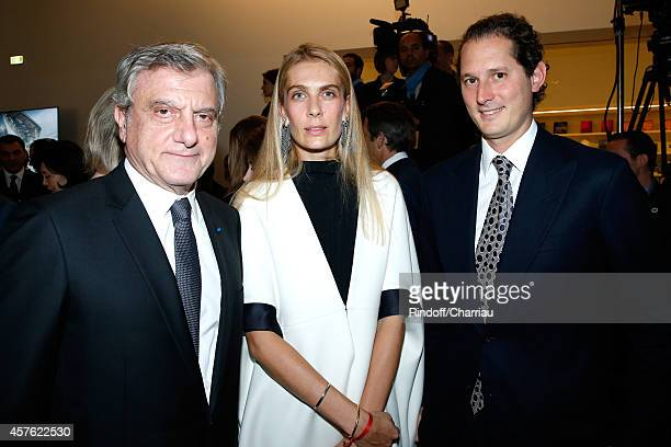 CEO Dior Sidney Toledano John Elkan and his wife Laviana Elkan attend the Fondation Louis Vuitton Opening at Fondation Louis Vuitton on October 20...