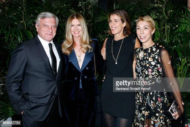 CEO Dior Sidney Toledano Sophie Agon Vanessa Van Zuylen and Mathilde Favier attend the 'Diner des Amis de Care' at Hotel Peninsula Paris on October 9...