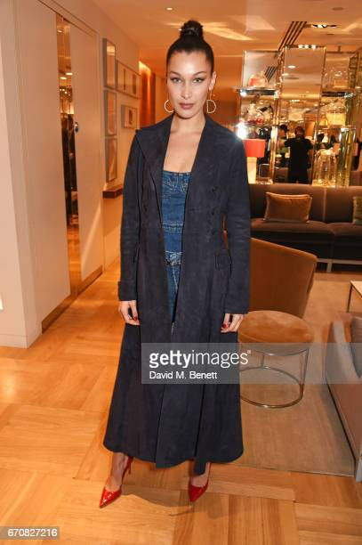Dior spokesmodel Bella Hadid celebrates the launch of her new Dior Pump 'N' Volume Mascara with her VIP friends at Selfridges on April 20 2017 in...