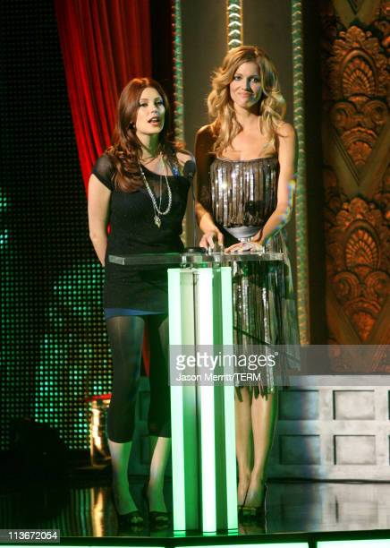 Diora Baird and Tricia Helfer during Spike TV's 'Scream Awards 2006' Show at Pantages Theater in Hollywood California United States
