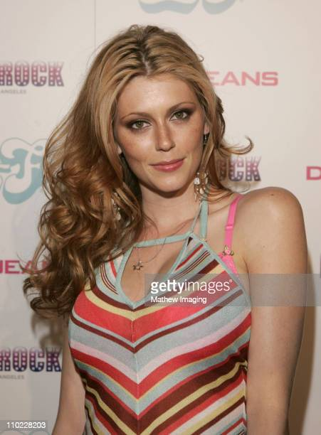 Diora Baird during DKNY Jeans and LoFi Gallery Present 'Mick Rock Live in LA' Exhibit at LoFi Gallery in Hollywood California United States