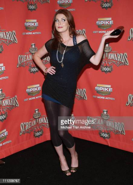 Diora Baird during Spike TV's 'Scream Awards 2006' Arrivals at Pantages Theater in Hollywood California United States