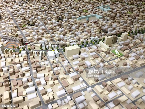 Diorama of the cityscape of Tokyo is seen at a station in Tokyo Japan January 29 2017