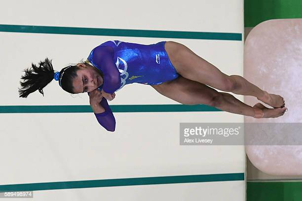 Dipa Karmakar of India competes in the Women's Vault Final on Day 9 of the Rio 2016 Olympic Games at the Rio Olympic Arena on August 14 2016 in Rio...