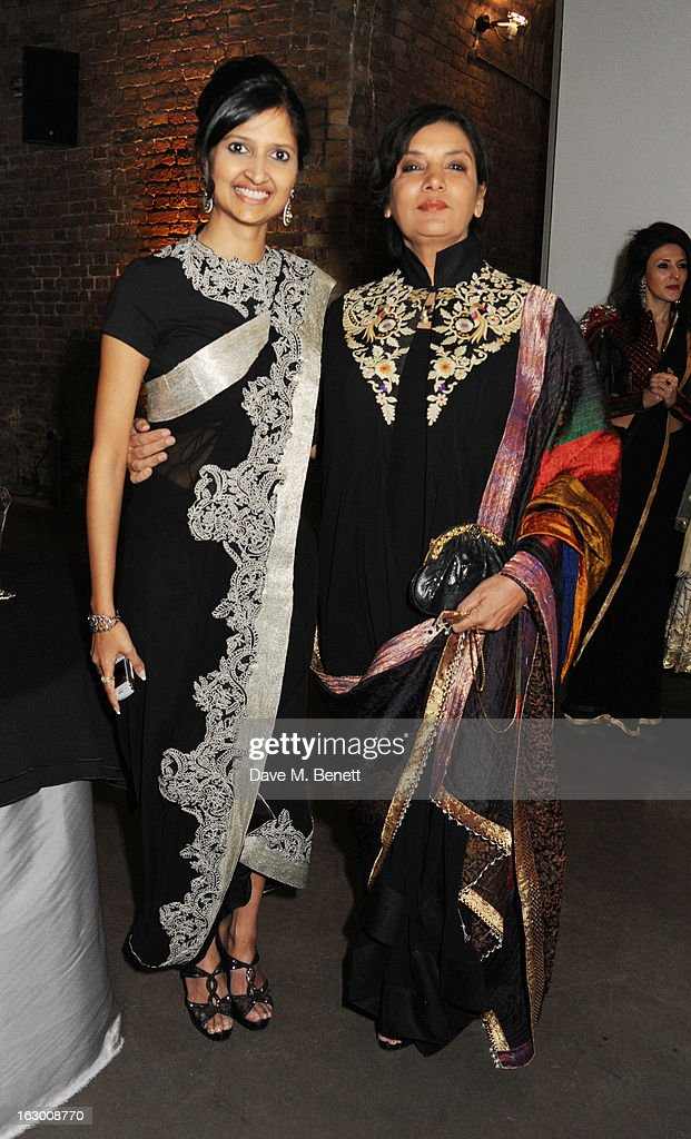 Dipika Khaitan and Shabana Azmi attend a Fashion Gala fundraiser hosted by the Akshaya Patra Foundation for underpriveleged children in India, at Vinopolis, on March 2, 2013 in London, England.