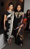 Dipika Khaitan and Shabana Azmi attend a Fashion Gala fundraiser hosted by the Akshaya Patra Foundation for underpriveleged children in India at...