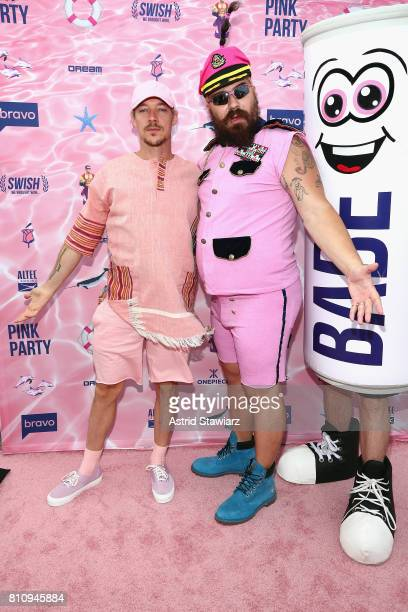 Diplo and The Fat Jew attend The PINK PARTY presented by SWISH at Pier 81 on July 8 2017 in New York City