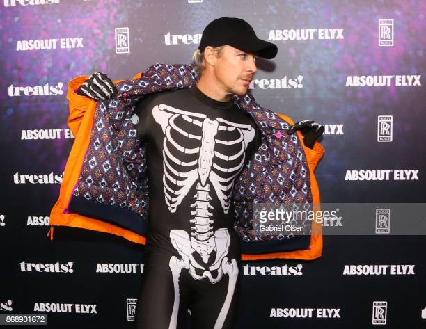 Diplo at treats Magazine's 7th Halloween Party in Partnership with RollsRoyce Black Badge Absolut Elyx Perrier Jouet on October 31 2017 in Los...