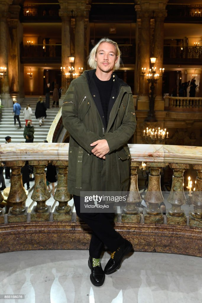 Diplo attends the Balmain show as part of the Paris Fashion Week Womenswear Spring/Summer 2018 on September 28, 2017 in Paris, France.