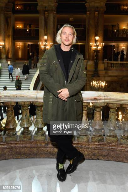 Diplo attends the Balmain show as part of the Paris Fashion Week Womenswear Spring/Summer 2018 on September 28 2017 in Paris France