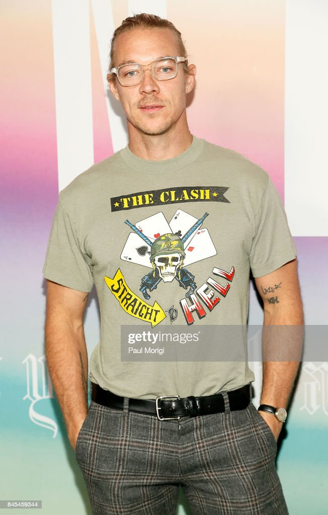 Diplo attends the Fenty Puma by Rihanna show during New York Fashion Week at the 69th Regiment Armory on September 10, 2017 in New York City.