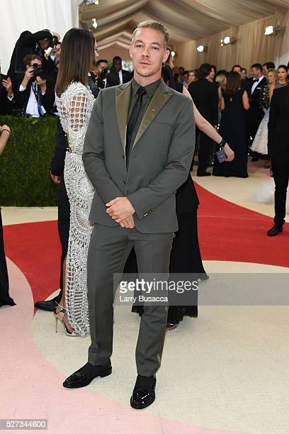 Diplo attends the 'Manus x Machina Fashion In An Age Of Technology' Costume Institute Gala at Metropolitan Museum of Art on May 2 2016 in New York...