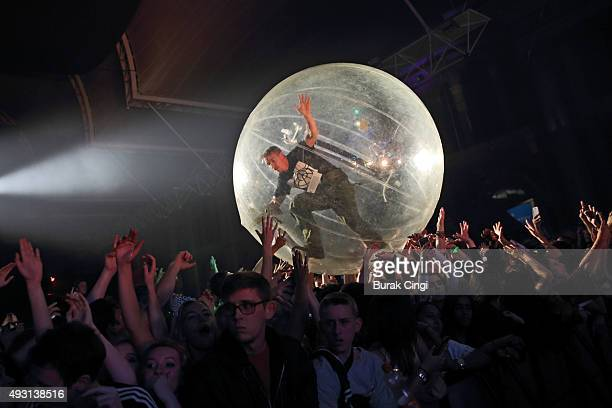Diplo of Major Lazer performs at Alexandra Palace on October 17 2015 in London England