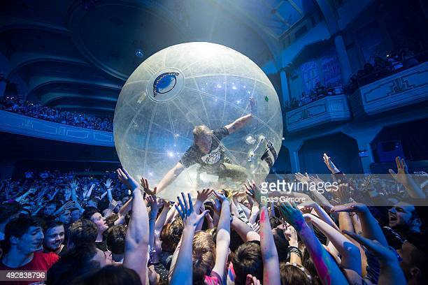 Diplo of Major lazer performs at O2 Academy Glasgow on October 15 2015 in Glasgow Scotland