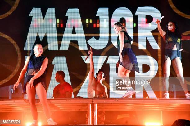 Diplo of Major Lazer performs at Piestewa Stage during day 3 of the 2017 Lost Lake Festival on October 22 2017 in Phoenix Arizona
