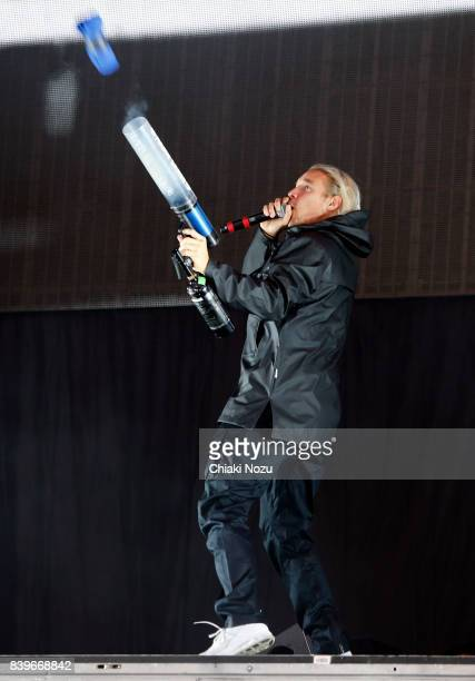 Diplo of Major Lazer performs at Reading Festival at Richfield Avenue on August 26 2017 in Reading England