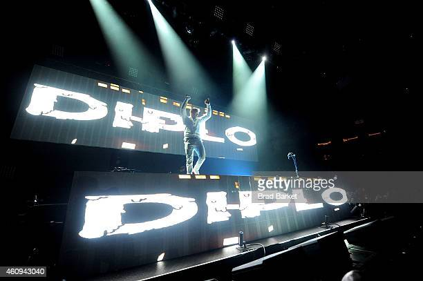 Diplo performs at Madison Square Garden on December 31 2014 in New York City