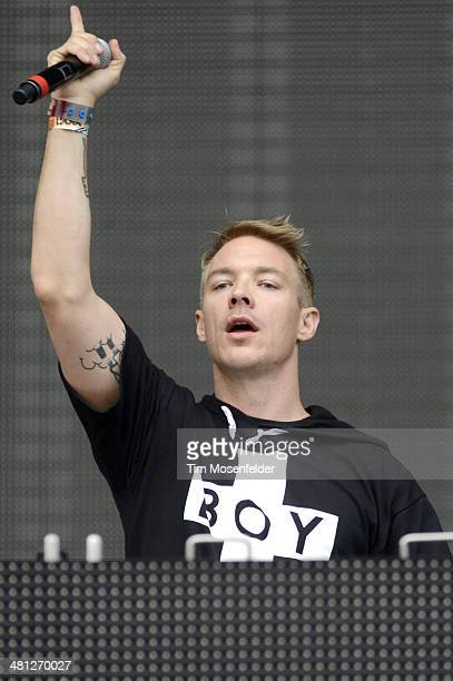 Diplo performs during the Ultra Music Festival at Bayfront Park Amphitheater on March 28 2014 in Miami Florida