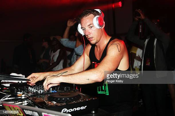 Diplo performs onstage during the Roots Picnic 2012 at Festival Pier on June 3 2012 in Philadelphia Pennsylvania