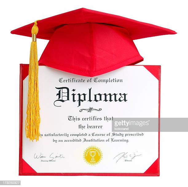 Diploma - Generic with clipping path