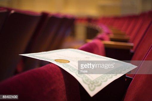 Diploma on Seats