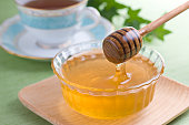 Dipping Honey with Honey Dipper