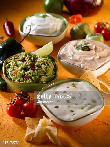 Dips (cheese and guacamole)