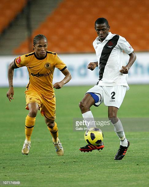 Dirang Moloi of Vasco da Gama is chased by Josta Dladla of the Chiefs during the Absa Premiership match between Kaizer Chiefs and Vasco da Gama at...