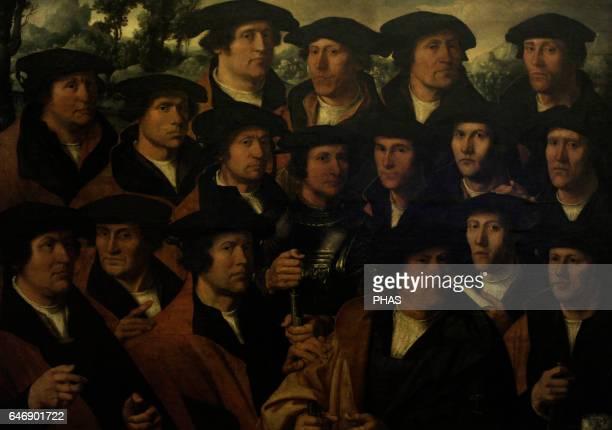Dirck Jacobsz Dutch Renaissance painter Group Portrait of the Amsterdam Shooting Corporation 1532 Oil on canvas The State Hermitage Museum Saint...