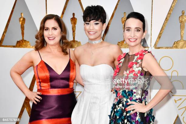 Direcor Kahane Cooperman musician Brianna Perez and Raphaela Neihausen attend the 89th Annual Academy Awards at Hollywood Highland Center on February...