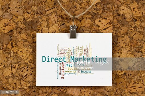 Direct Marketing word cloud : Stock Photo