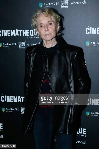 Directeur and coscriptwriter of the movie Claire Denis attends the 'Un beau soleil interieur' Paris Premiere at La Cinematheque on September 25 2017...