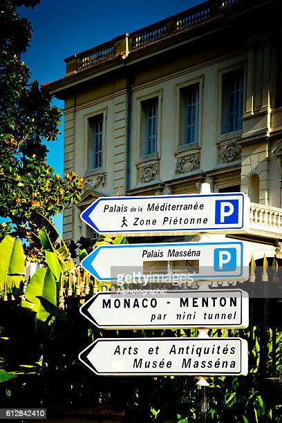 Direction signs in Nice, France.