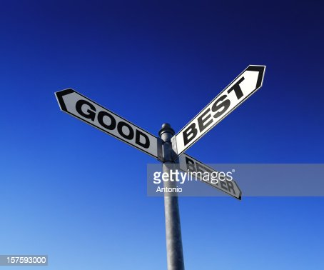 Directional choices arrow signpost