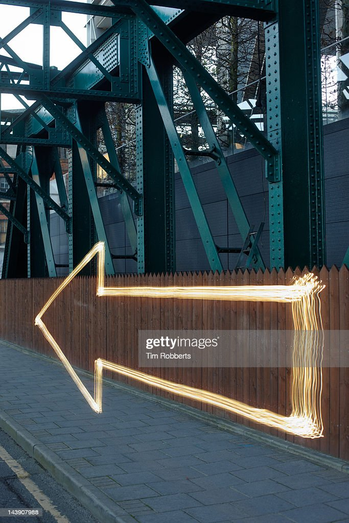 Directional light arrow. : Stock Photo