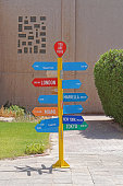 Directional post arrows you are here in Kuwait