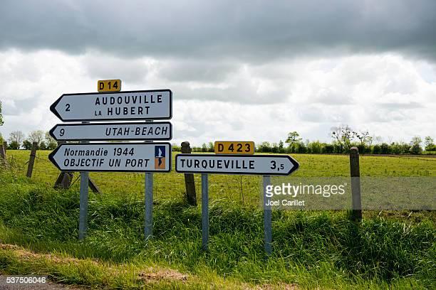 Les panneaux de signalisation de Normandie, France