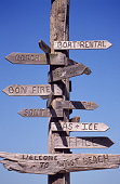 Directional Sign at West Beach Resort
