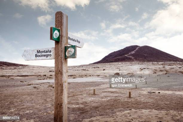 Directional sign, Santa Cruz de Tenerife, Canary Islands, Spain, Europe