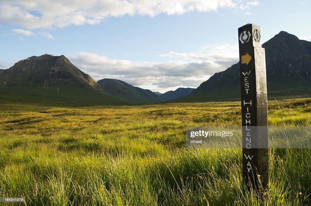 A directional sign to West Highland Way